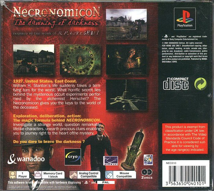 PSX World All Game Guides - Necronomicon - The Dawning Of ...